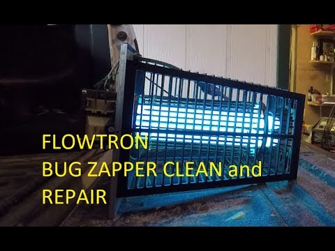 Cleaning and repairing a Flowtron Bug Zapper