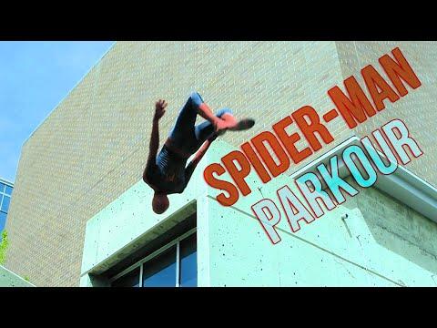 Паркур в костюме человека паука   Spider-man