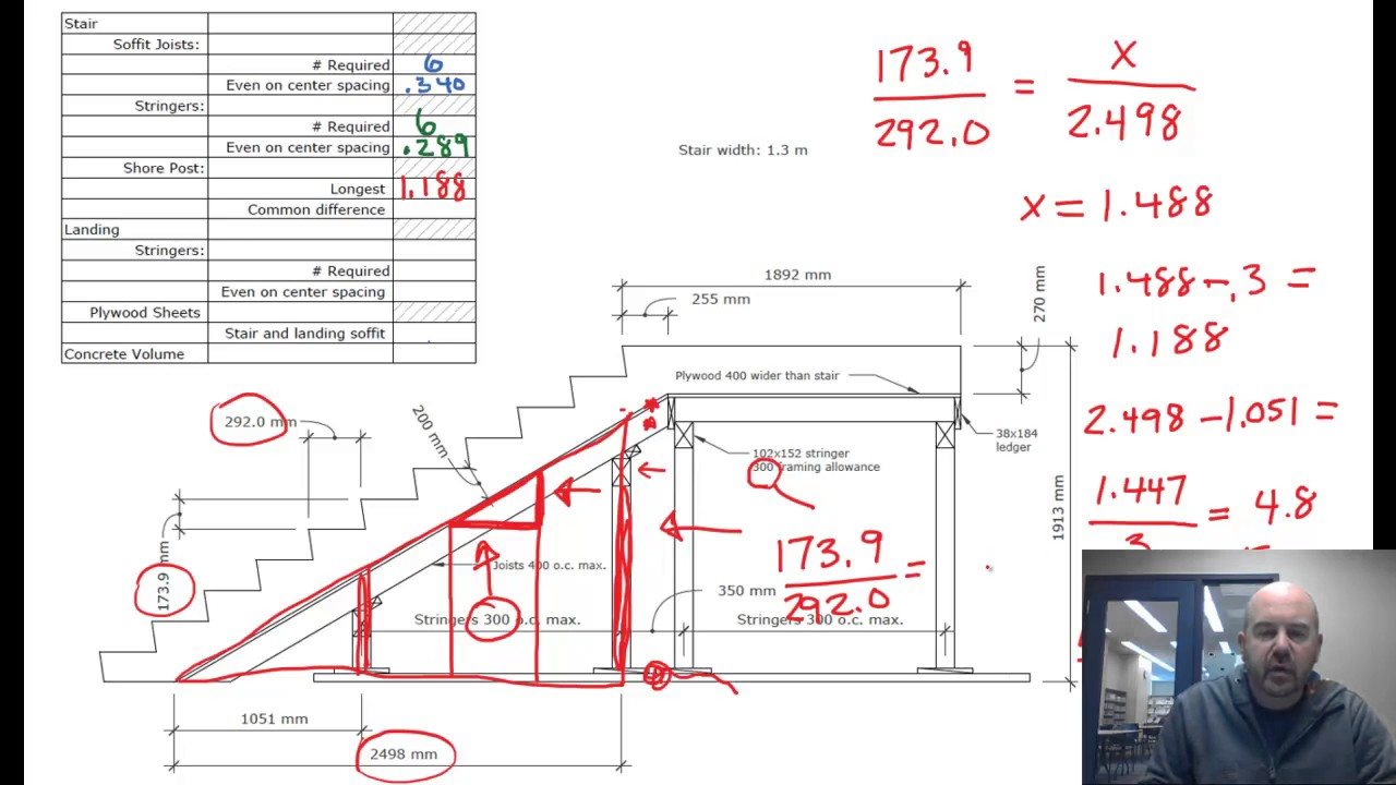 Concrete Stair Formwork Calculations Youtube | Concrete Stair Formwork Design | Round | Master | Broken | Slab | Small Space