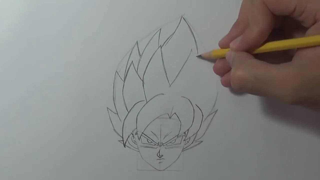 Comment dessiner son goku ssgss youtube - Comment dessiner goku ...