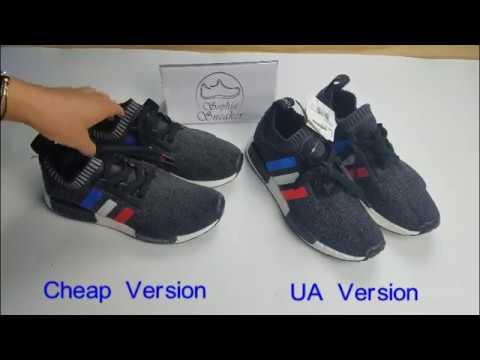 45be688ceb32f NMD R1 PK Tricolor UA VS Cheap Version Comparison. Sneakers Sophia