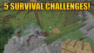 5 Survival Challenges You Should try In Minecraft! - Minecraft Xbox 360/One/PS3/PS4/WiiU/PC/PE
