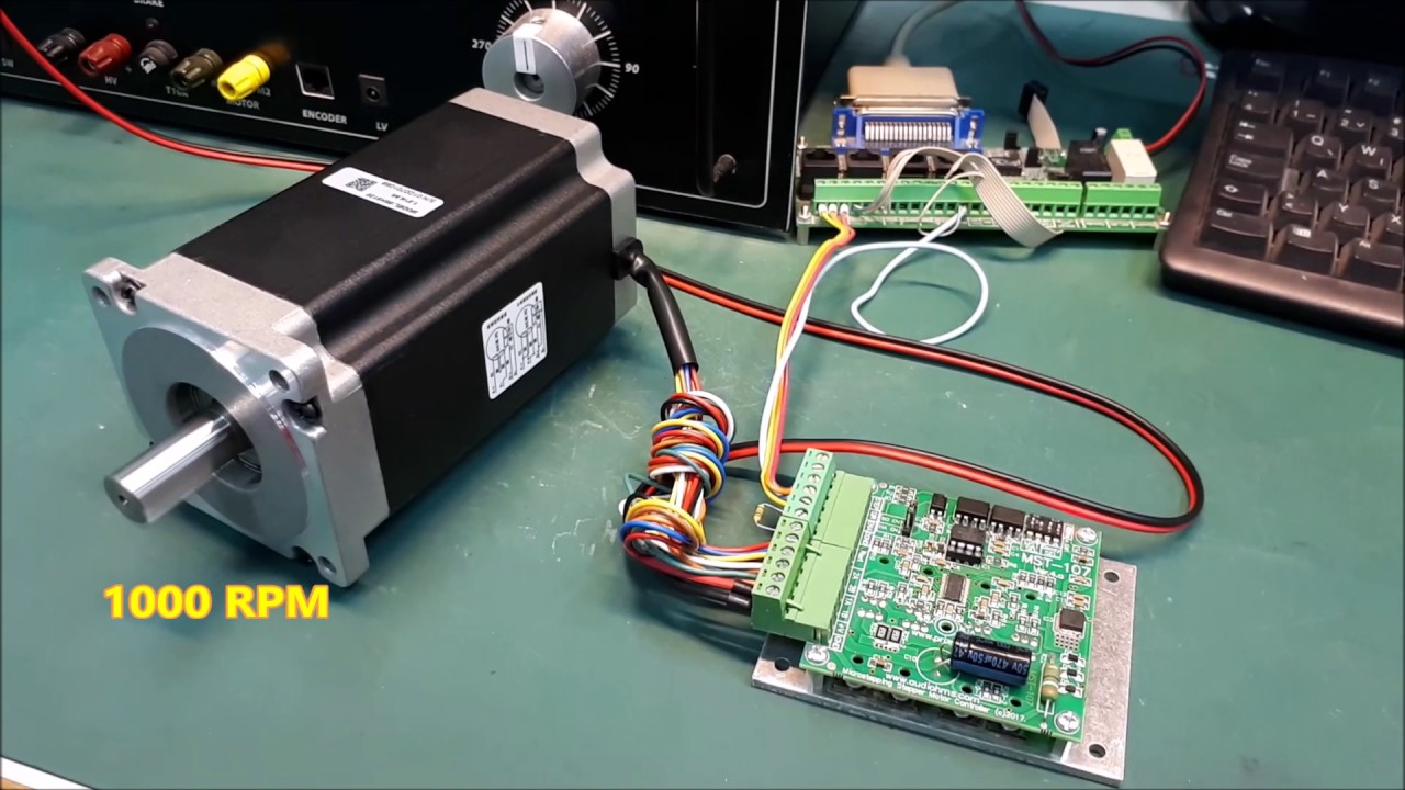 NEMA 34 12Nm  1700 ozin Stepper Motor Test with MST107  YouTube