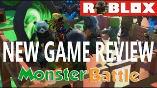 LIVE Stream - Roblox MONSTER BATTLE Game Review