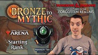 🥉 MTG Arena: Bronze To Mythic: Episode 9 - Starting Rank: Platinum 3 (Limited: D&D Draft)