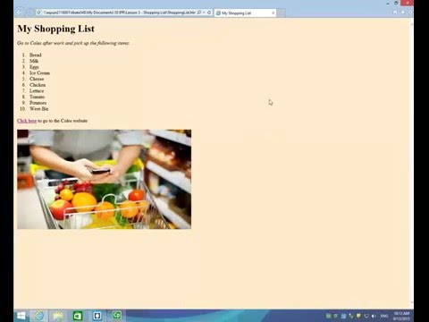 Make A Shopping List Webpage Using HTML/CSS