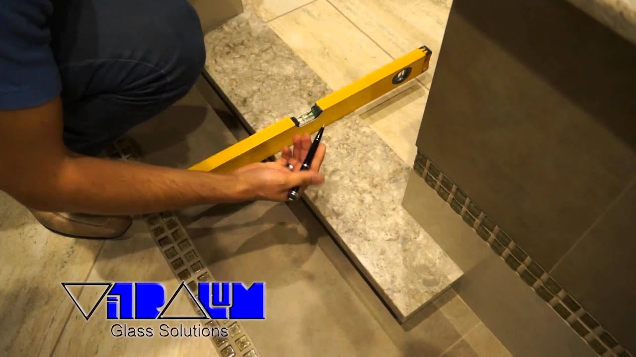 Vitralum Glass Solutions How To Install A Shower Sill For Frameless Glass Shower Enclosures