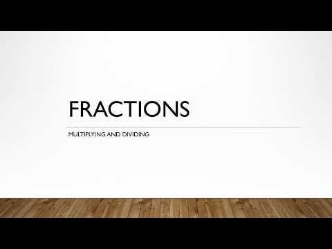 How to Multiply and Divide Fractions (Pearson Pre-Algebra)