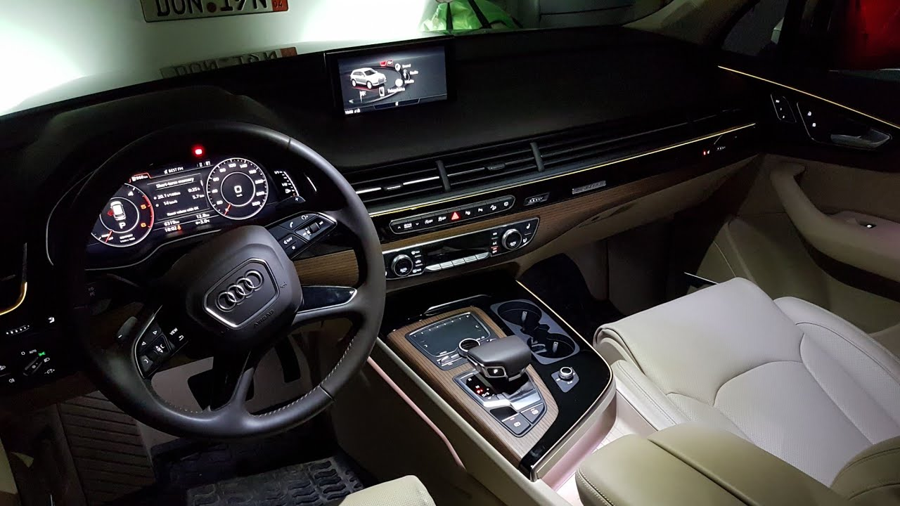 Audi Q7 Sq7 2018 Ambient Lighting Interior Night Youtube