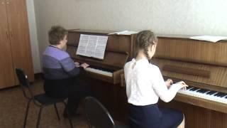 Урок специальности, фрагмент урока 01 (фортепиано)