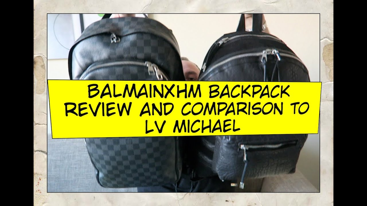 ebefaf40301b Balmain for H M Backpack Overview and Comparison to Louis Vuitton Michael