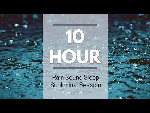 Stop Drinking Alcohol Forever - (10 Hour) Rain Sound - Sleep Subliminal - By Thomas Hall