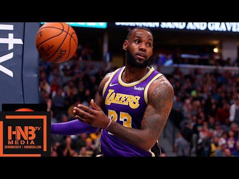 Los Angeles Lakers vs Denver Nuggets 1st Half Highlights | 11.27.2018, NBA Season