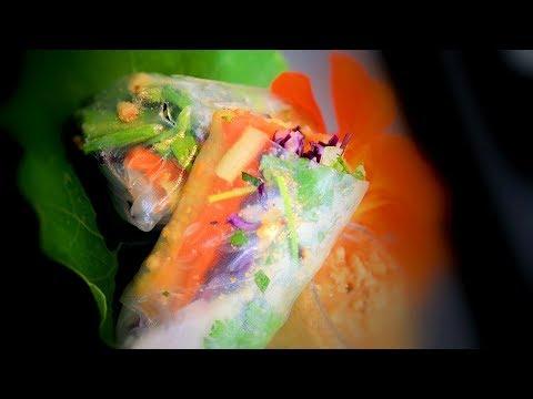 Vietnamese Vegetable Spring Rolls & Peanut Butter Dipping Sauce