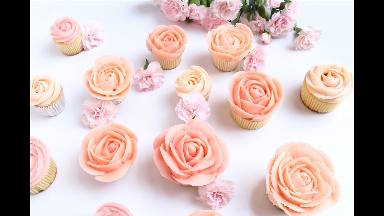 Rose Buttercream tutorial Cuppy & Cake - YouTube