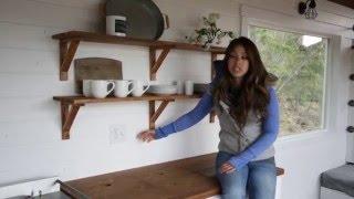 How To Make Wood Open Kitchen Shelves: Ana White Tiny House Build  Episode 15