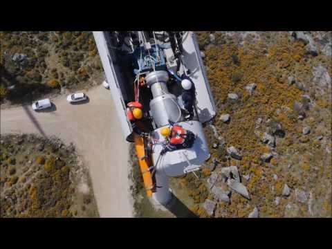 Simulacro de rescate en un aerogenerador - ACCIONA