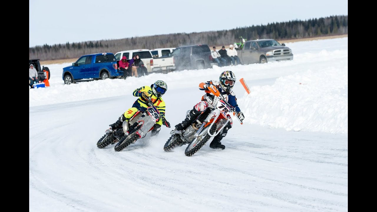 2015 Motorcycle Oval Ice Races Pigeon Lake Rd 2 Alberta Canada