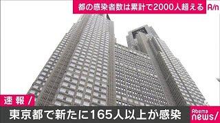 新型コロナ 東京都で新たに165人以上の感染確認(20/04/12)