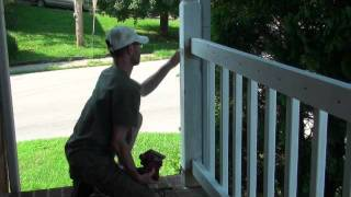 Railing Project - Sanding Posts Where Old Railing Was Attached (video 14 Of 25)