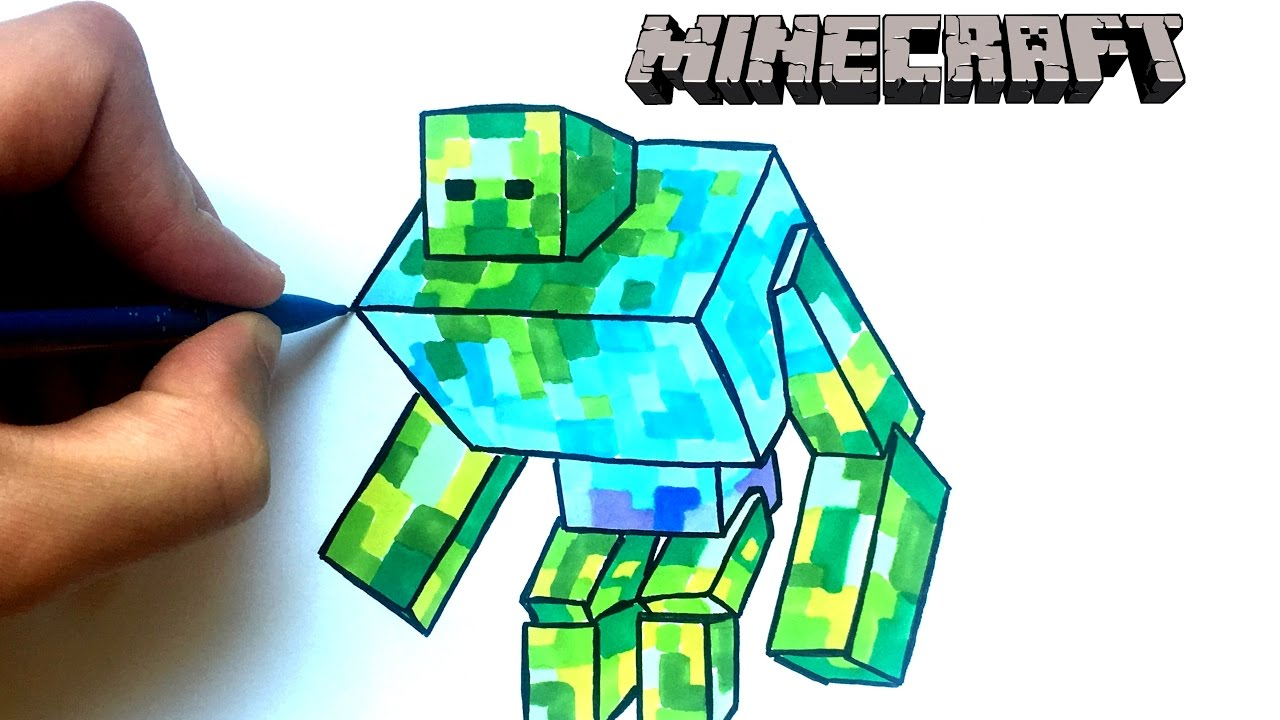Dessin Zombie Geant Minecraft Youtube