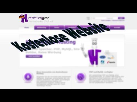 KOSTENLOSE Website erstellen! | Eigene Domain + keine Werbung vom Hoster ~ hostinger.de