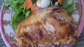 Окорочка запеченные в духовке+видео+в ананасовом маринаде
