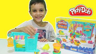 Pig George Peppa Pig Massinha Play-Doh Town Pet Shop Spiderman Homem Aranha Green Goblin Toy Kids