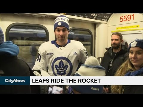 Leafs Take The Subway To Practice