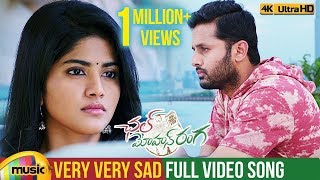 Chal Mohan Ranga Video Songs | Very Very Sad Full Video Song 4K | Nithiin | Megha | Pawan Kalyan