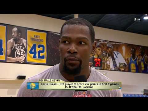 Kevin Durant Talks To David Aldridge About Game 5 | Warriors vs Cavs  | June 11, 2017