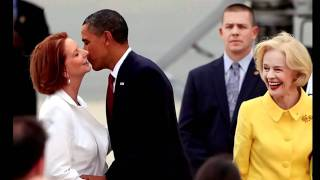 Obama kissing Julia Gillard Thumbnail