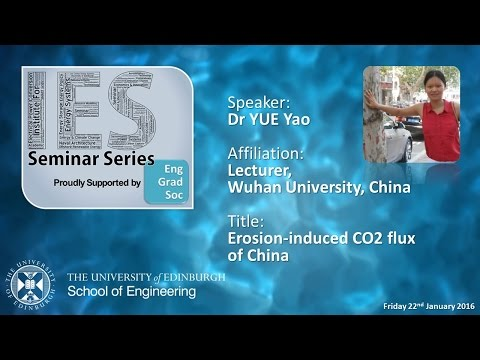 Soil Erosion-induced CO2 flux of China - Dr YUE Yao, Wuhan University