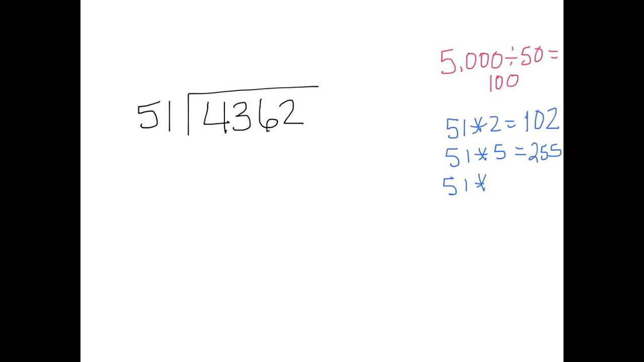 4 4 Long Division With 2 Digit Divisors