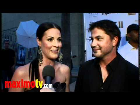 Rileah Vanderbilt and Adam Green  at HATCHET II Premiere