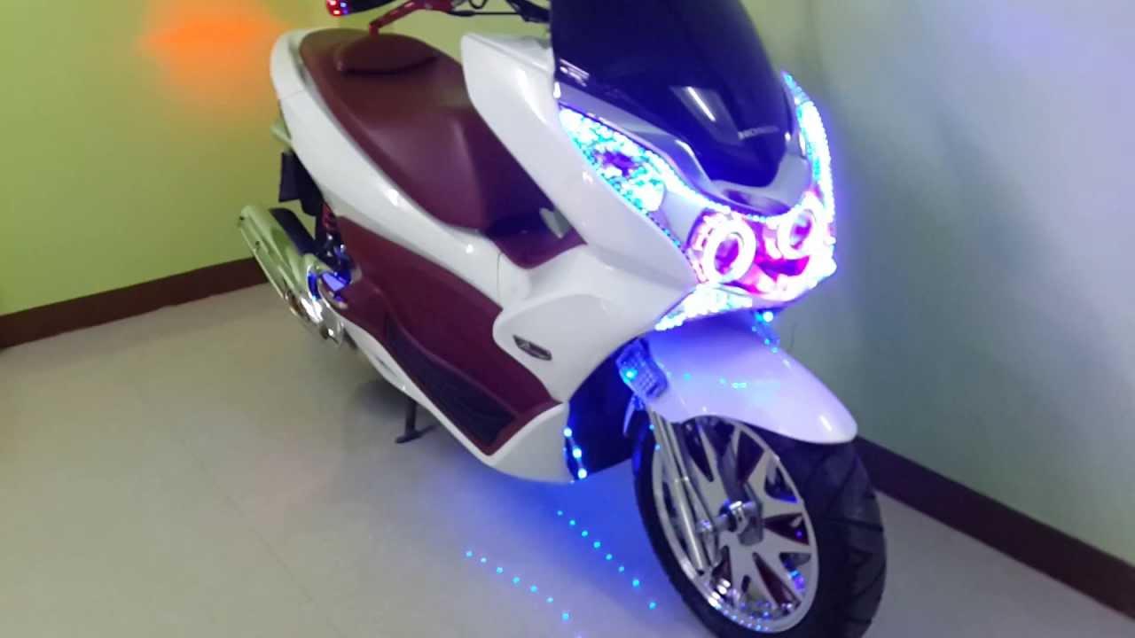 Custom 2012 PCX With Custom LED Lighting & LED Police ...