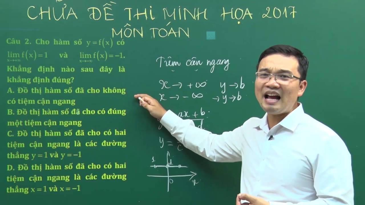 Thi THPTQG Đề minh họa 2017 – Thầy Lưu Huy Thưởng – Hướng dẫn giải đề thi minh họa THPTQG 2017
