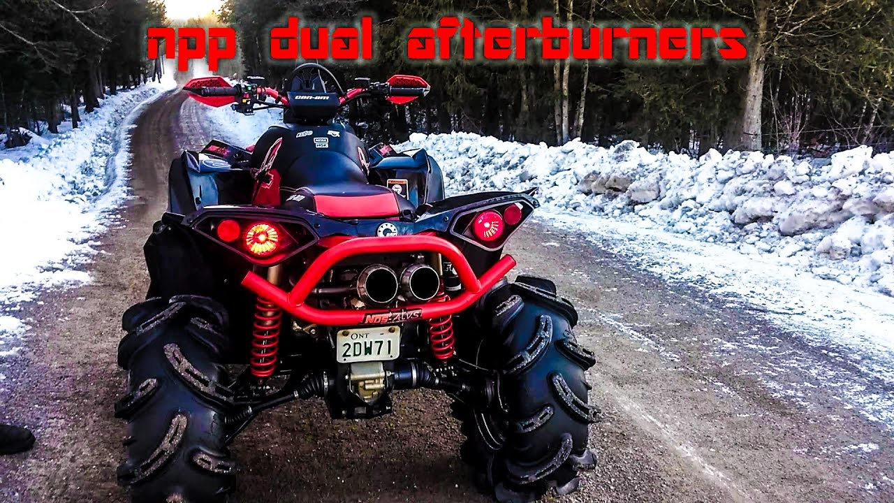 npp dual afterburners on a can am renegade xmr 1000r