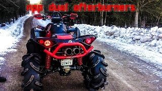 Repeat youtube video NPP Dual Afterburners on a Can Am Renegade XMR 1000r