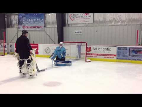 Goaltender On Ice Drills: Building active hands