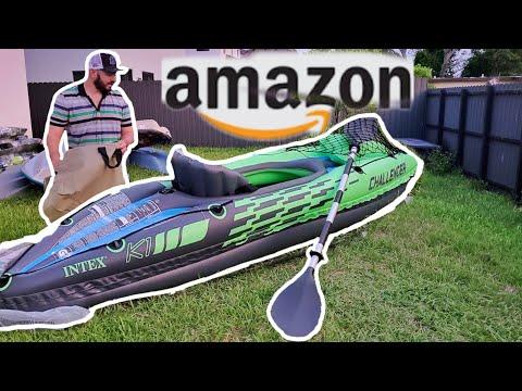 I BOUGHT The CHEAPEST KAYAK On AMAZON | Intex Challenger K1 Kayak