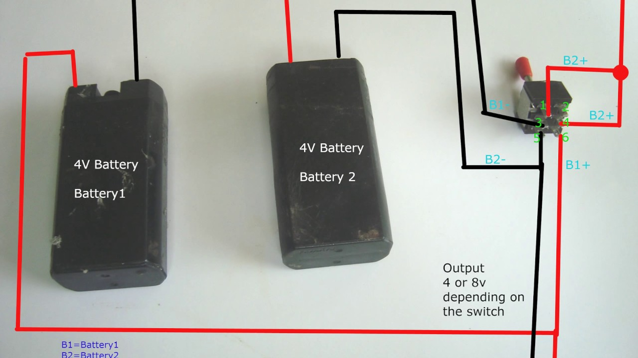 Battery Parallel , Series Switching Using a Switch - YouTube