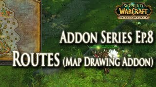 addons ep 8 routes map drawing addon guide how to setup routes for mining herbalism