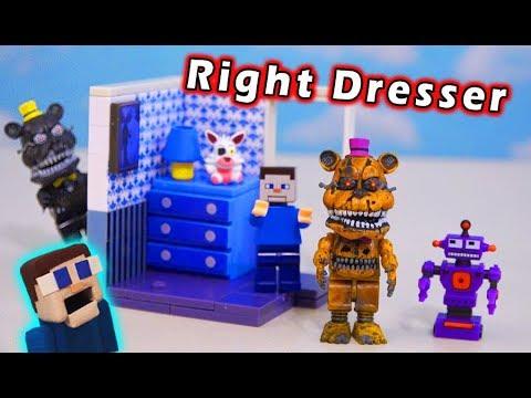 FNAF McFarlane Toys Nightmare FREDBEAR & RIGHT DRESSER DOOR Wave 5 Unboxing