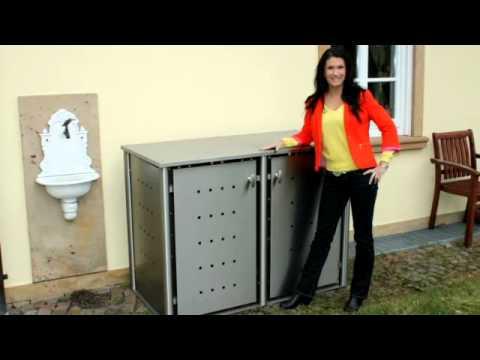 m llboxen g nzburg indra metallwaren youtube. Black Bedroom Furniture Sets. Home Design Ideas