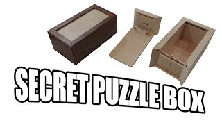 "I used a good 4 side piece of 1x4x6 poplar and a small piece of scrap 1/4"" pre-finished plywood to make this small trick puzzle box"