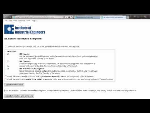 IIE website – Updating Your Membership Record