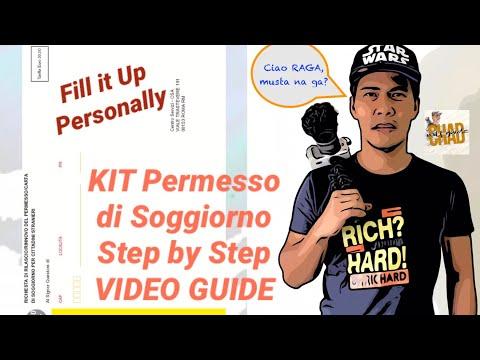 KIT Permesso Di Soggiorno, Paano mag Fill up (Step by Step ...