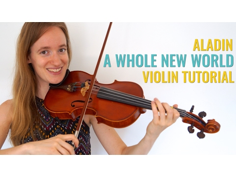 A Whole New World  Aladin Violin Lesson  Fairytale Challenge