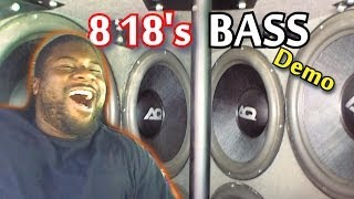 "LOUD Car Audio BASS Demos w/ 8 18"" Subwoofers 